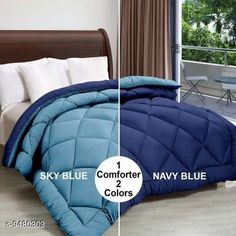 Checkout this latest Blankets Product Name: *Jaxmom Microfiber Soft & Light Weight Designer Double Bed (90X100) Reversible 250 Gsm Rajai / Comforter (Double_Sky Blue & Nevy Blue)* Fabric: Microfiber Multipack: 1 Thread Count: 110 Sizes:  Free Size (Length Size: 100 in, Width Size: 90 in)  Country of Origin: India Easy Returns Available In Case Of Any Issue   Catalog Rating: ★4 (410)  Catalog Name: Graceful Fancy Blankets CatalogID_1668067 C53-SC1102 Code: 2231-9480303-5553