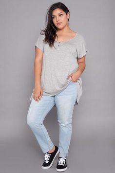 dab34a2bbe91e Curvy Sense Plus Size Top For Juniors Trendy Plus Size Clothing