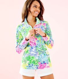 2126e6573faa UPF 50+ Skipper Popover | 000733 | Lilly Pulitzer Lilly Pulitzer, Prepping,  Style