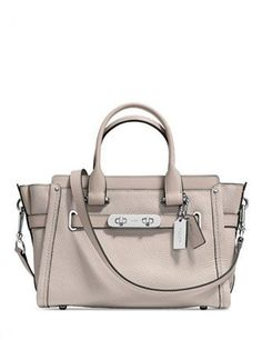 35d5c1f5e936 Coach Swagger 27 in Pebble Leather