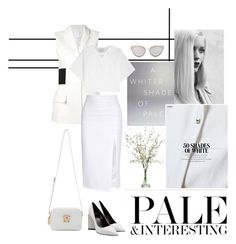 """""""White Pale Vibe"""" by imyeni ❤ liked on Polyvore featuring Lux-Art Silks, Versace, Alexander Wang, Cushnie Et Ochs, 3.1 Phillip Lim, Pierre Hardy, Banana Republic, GE and Christian Dior"""