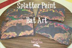 splatter paint bat art