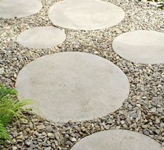 Round Stepping Stones -i would like these in nice bright colours