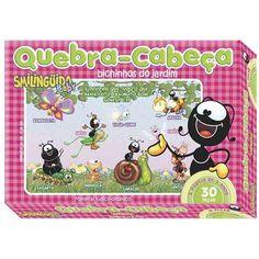 Jogo Quebra-Cabeça Smilinguido Baby 30 Peças / Caixa Rosa