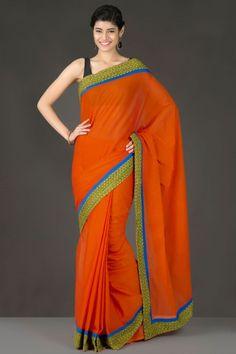 Minimalist Style: Handloom South Cotton Sarees - Home Page Display