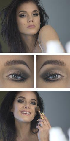 Simple grey smokey eye