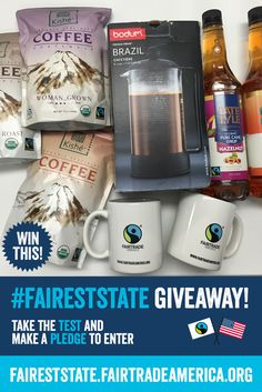 YOU could win this prize basket full of Fairtrade coffee! To enter the contest, all you need to do is click this image and take our fairness test! Contest ends 10/5/16 11:59PM EST