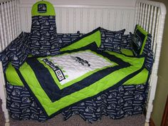 nfl seattle seahawks embroidered comforter set - bedbathandbeyond