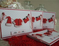 Cricut Christmas Cards | Santa's Laundry.....Coat and pants / Paper doll dress up, Hat/ Joy ...