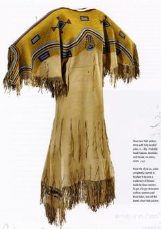 Sioux dress, c. 1865.
