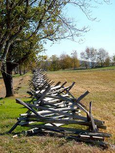 Fence line, Antietam Battlefield, Maryland