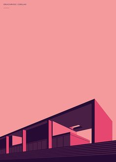 I am a fan of modern architecture with simple form, glass, concrete and straight lines. Henrique Foster, a designer from Sao Paulo, Brazil, created a series of posters titled Idea!