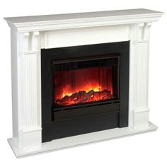 Enjoy the warmth and style of the Real Flame Ashley Indoor Gel Fireplace - White . This beautiful faux fireplace uses canisters of Real Flame. Decor, Home, Family Room, Faux Fireplace, Gel Fireplace, House, Indoor, Interior Design, Fireplace