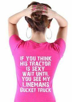 Lineman wife shirt ♡