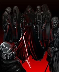 The Knights of Ren I really want a book or movie just about them Star Wars Sith, Star Wars Kylo Ren, Star Wars Characters, Star Wars Episodes, Starwars, Dc Comics, Star Wars Canon, Knights Of Ren, Star Wars Design