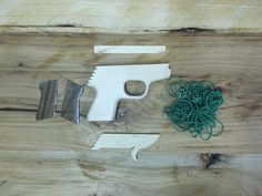 Parts for one PPK rubber band gun