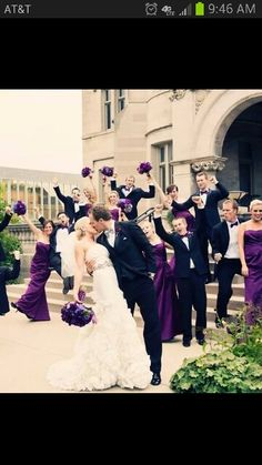 #Wedding #purple ♥ https://itunes.apple.com/us/app/the-gold-wedding-planner/id498112599?ls=1=8 'How to plan a wedding' iPhone App ... Your Complete Wedding Ceremony & Reception Guide  FREE FOR A LIMITED TIME ♥ http://pinterest.com/groomsandbrides/boards/ for more magical wedding ideas ♥  pinned with love.