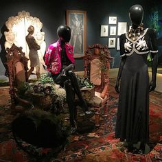 """Women dress alike all over the world: they dress to be annoying to other women. - Elsa Schiaparelli.  Our #CherchezLaFemme Surrealist exhibition includes pieces from the Schiaparelli Haute Couture - two of which come from the designer's famed 1938 Fall """"Pagan"""" collection. Stop by to view them in person! by sothebys"""
