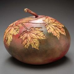 Gourd Art Patterns | Hand Carved Gourd Gallery - Marilyn Sunderland Gourd Art by monsterfish