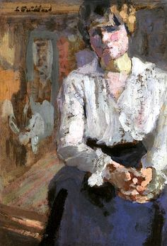 Seated Woman with Joined Hands / Edouard Vuillard - 1916