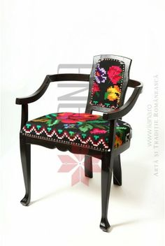 Furniture with Romanian traditional models upholstery Vanity Bench, Upholstery, Houses, Colorful, Rustic, Models, Traditional, Decoration, Furniture