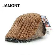Style able Wool Knitted Flat Cap Keep Warm Comfortable Headwear Casual Hats JAMONT