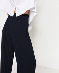 Image 5 of HIGH-WAIST TROUSERS from Zara