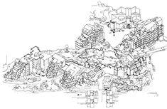 © Atelier d'Architecture Simone et Lucien Kroll Lucien Kroll, Delft, Architecture, Collage, Map, Memes, Projects, Architectural Sketches, Palestine