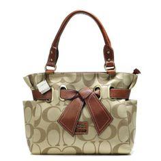 Coach Poppy Collection Brown Satchels$43.99| Trendy Women Fashion.