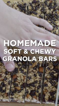 A simple, soft and chewy granola bars recipe that's delicious as-is or can be adapted based on your favorite dried fruits, nuts or chocolate. and Drink appetizers brown sugar Simple, Soft and Chewy Granola Bars Breakfast Bars, Breakfast Recipes, Snack Recipes, Dessert Recipes, Cooking Recipes, Diet Recipes, Baking Desserts, Baking Snacks, Diet Breakfast