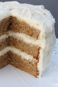 Chai Cake with Honey-Ginger Cream: This cake is fabulously tender and moist. It would work as a base  recipe for any tea flavor you wanted. I made it using an orange spice tea and baked it in a large bunt pan and drizzled it with orange glaze and it was delicious.