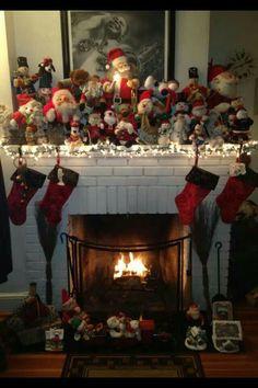 Santa fireplace.