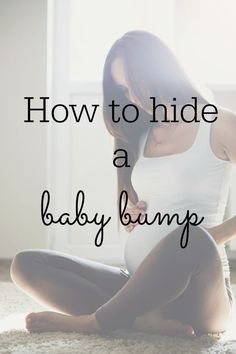 Great tips and tricks to help you hide your baby bump, until you're ready to share the news.