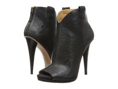 Nine West - Ahero  Price: $103  Step out in sassy style with these stunning heels! Back-zip closure. Leather upper with side tabs and an open toe. Man-made lining. Lightly cushioned man-made footbed. Stacked heel. Man-made sole. Imported. Measurements: Heel Height: 4 1 4 in