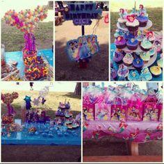 Little Mermaid/Disney Princesses Birthday party