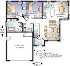 Détail du plan de Maison unifamiliale W3260-V2