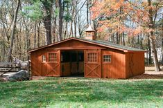 Styles: Shed Row Horse Barns: Run-In, Shed Row, Rancher with Overhang, Center Aisle Horse Barn, Economy Barns & Run-Ins: The Barn Yard & Great Country Garages Horse Shed, Horse Barn Plans, Horse Stables, Horse Shelter, Horse Farms, Small Barn Plans, Small Horse Barns, Horse Barn Designs, Goat Barn