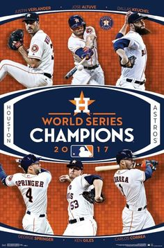 7f53b9809 Houston Astros 2017 World Series CHAMPIONS 6-Player Commemorative Poster -  Trends Int l