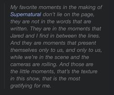 Jensen Ackles, Supernatural, In This Moment, Writing, Personalized Items, My Favorite Things, Words, Occult, Horse