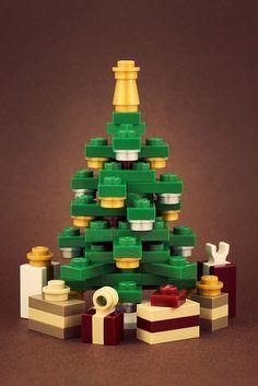 Christmas Tree made of Legos.
