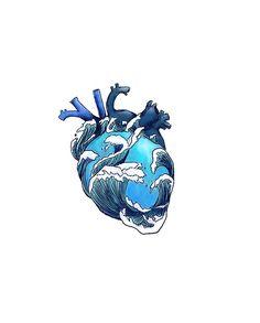 Beneath The Waves T Shirt By Gohldfish Redbubble - Buy Beneath The Waves By Gohldfish As A T Shirt Classic T Shirt Tri Blend T Shirt Lightweight Hoodie Fitted V Neck T Shirt Relaxed Fit T Shirt Graphic T Shirt Chiffon Top Sleeveles Anatomy Art, Heart Art, Aesthetic Art, Cute Wallpapers, Art Inspo, Line Art, Body Art, Art Drawings, Tattoo Designs