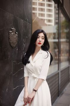 Korean Fashion – How to Dress up Korean Style – Designer Fashion Tips Korean Fashion Work, Asian Fashion, Ulzzang Fashion, Business Dresses, How To Look Classy, Classy Dress, Models, Ladies Dress Design, Stylish Outfits