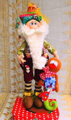 Holiday Fun, Christmas Diy, Christmas Decorations, Sewing Dolls, Elves, Decoupage, Santa, Country, Disney