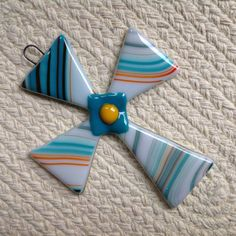 Fused Glass Cross Sun Catcher or Wall Hanging