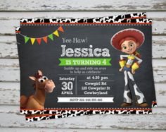 Jessie Banner banner de Toy Story Toy Story por CuddleBuggParties Fiesta 2 75c53cba23a