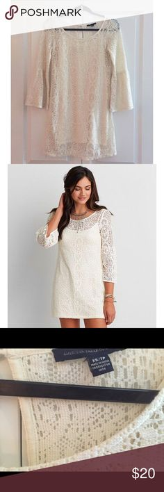 AEO Lace Bell Sleeve Dress Allover lace Bell sleeves lined  Cotton, Nylon American Eagle Outfitters Dresses