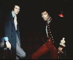 Eric Clapton and Jimi Hendrix