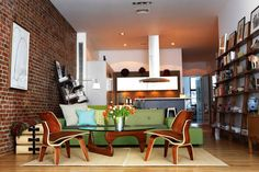 Eames Chair, Hella Jongerius Sofa, Isamu Noguchi Vitra Coffee Table