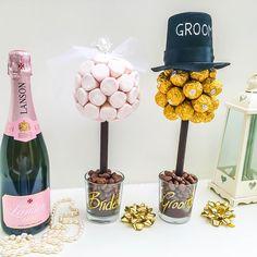 Bride & Groom - Ferrero & Marshmallow Centrepieces | GettingPersonal.co.uk
