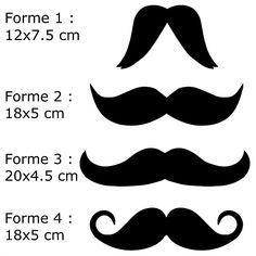 Appliqué thermocollant moustaches au choix